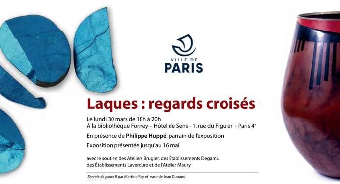 """du 30 mars au 29 mai  """"Laques : regards croisés""""  Bibliothèque Forney Paris"""
