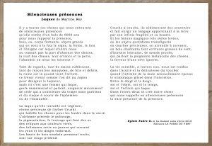 Poème Sylvie Fabre G