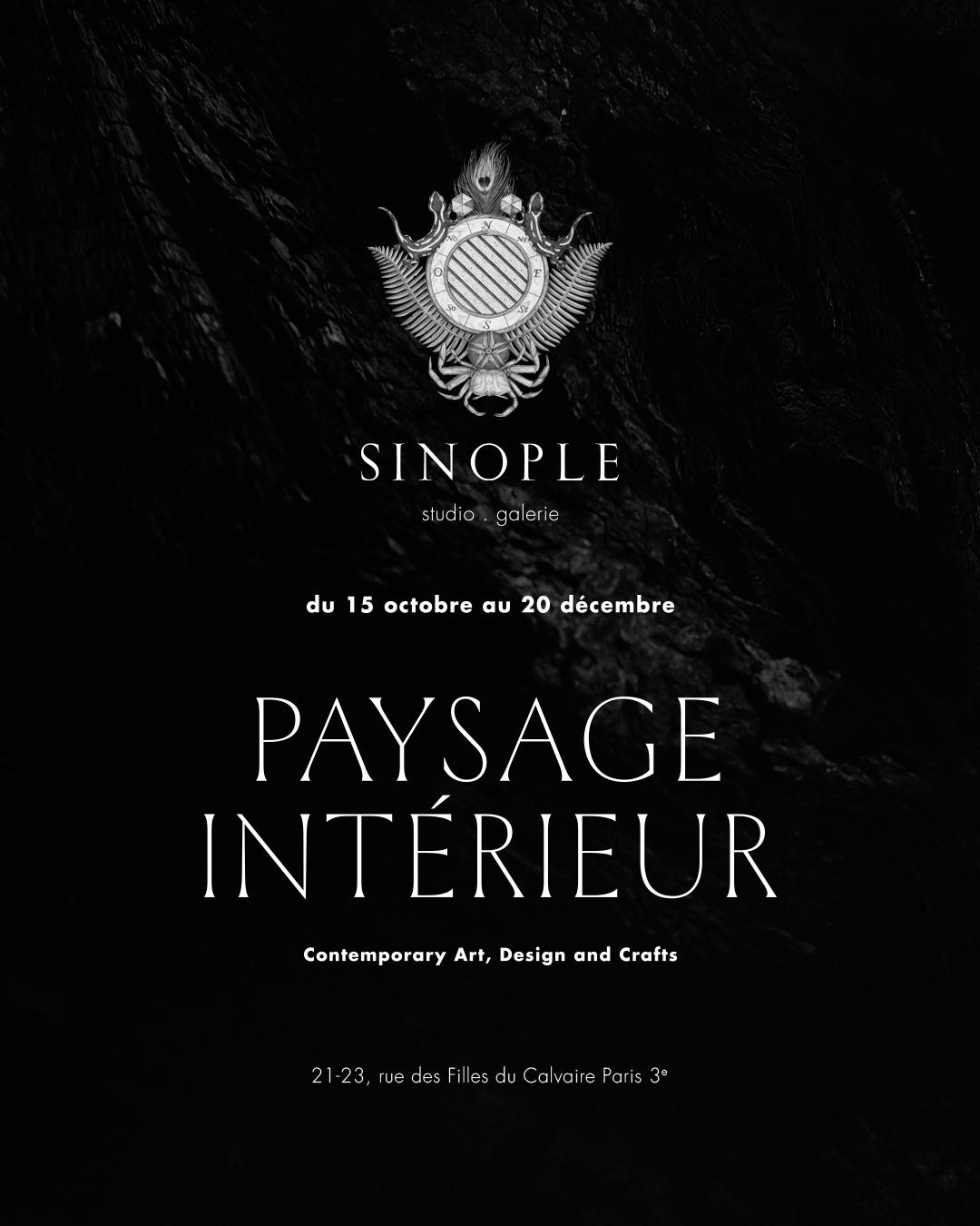 """Du 15 octobre au 20 décembre 2020 exposition """"Paysage intérieur"""" galerie Sinople – Paris"""